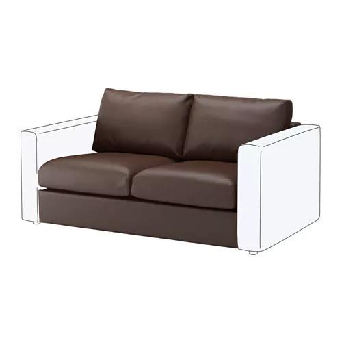 Секция 2-местная для модульного дивана IKEA VIMLE Farsta темно-коричневый 003.534.26