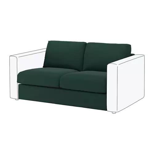 Секция 2-местная для модульного дивана IKEA VIMLE Gunnared темно-зеленый 592.194.93