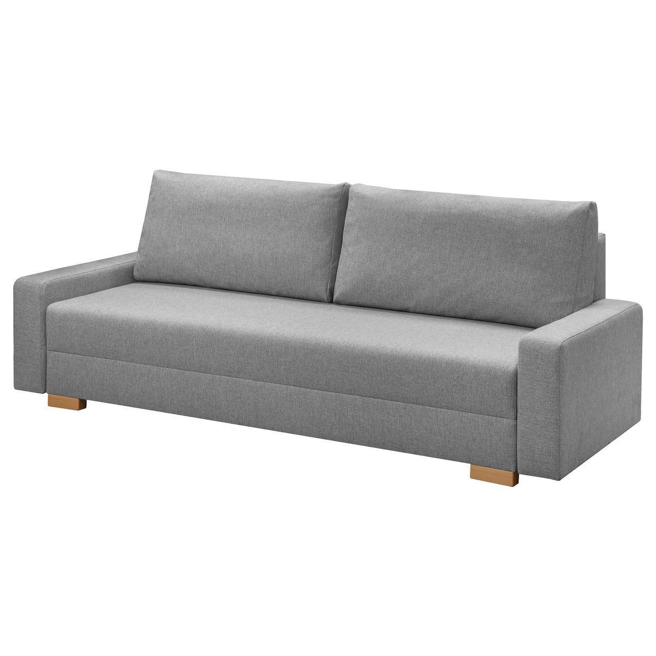 Диван IKEA GRÄLVIKEN раскладной 3-местный серый 703.405.67