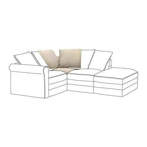 Угловая секция модульного дивана IKEA GRÖNLID Sporda natural 892.556.39