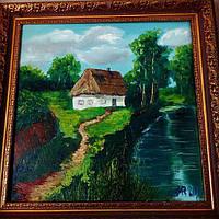Картина маслом Батьківська хата