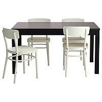 BJURSTA / IDOLF Stół i 4 krzesła, czarnobrąz, biały 699.320.56