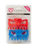 Набор заколок для волос (2шт) Rachele 9х3см Синий, Красный