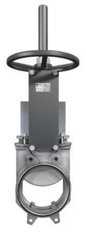 Задвижка шиберная двунаправленная DN100 PN 10 нж. cталь ножевая с ручным приводом Серия AB межфланцевого типа