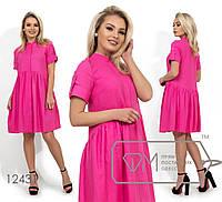 Платье-туника с короткими рукавами. Разные цвета.