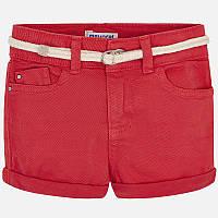 Персиковые шорты для девочки 234-10, Размер одежды 4/104см