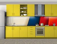 Кухонный фартук Разноцветные пластины, Самоклеящаяся стеновая панель для кухни, Абстракции, красный, фото 1
