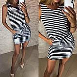 Платье-туника в полоску - 42 размер, фото 2