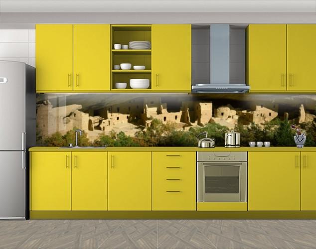 Кухонный фартук Песочные дома, Пленка самоклеящаяся для скинали, Природа, бежевый