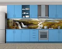 Кухонный фартук Долина водопадов, Самоклеящаяся скинали с фотопечатью, Природа, зеленый, фото 1