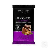 Шоколадка Cachet Миндаль-изюм