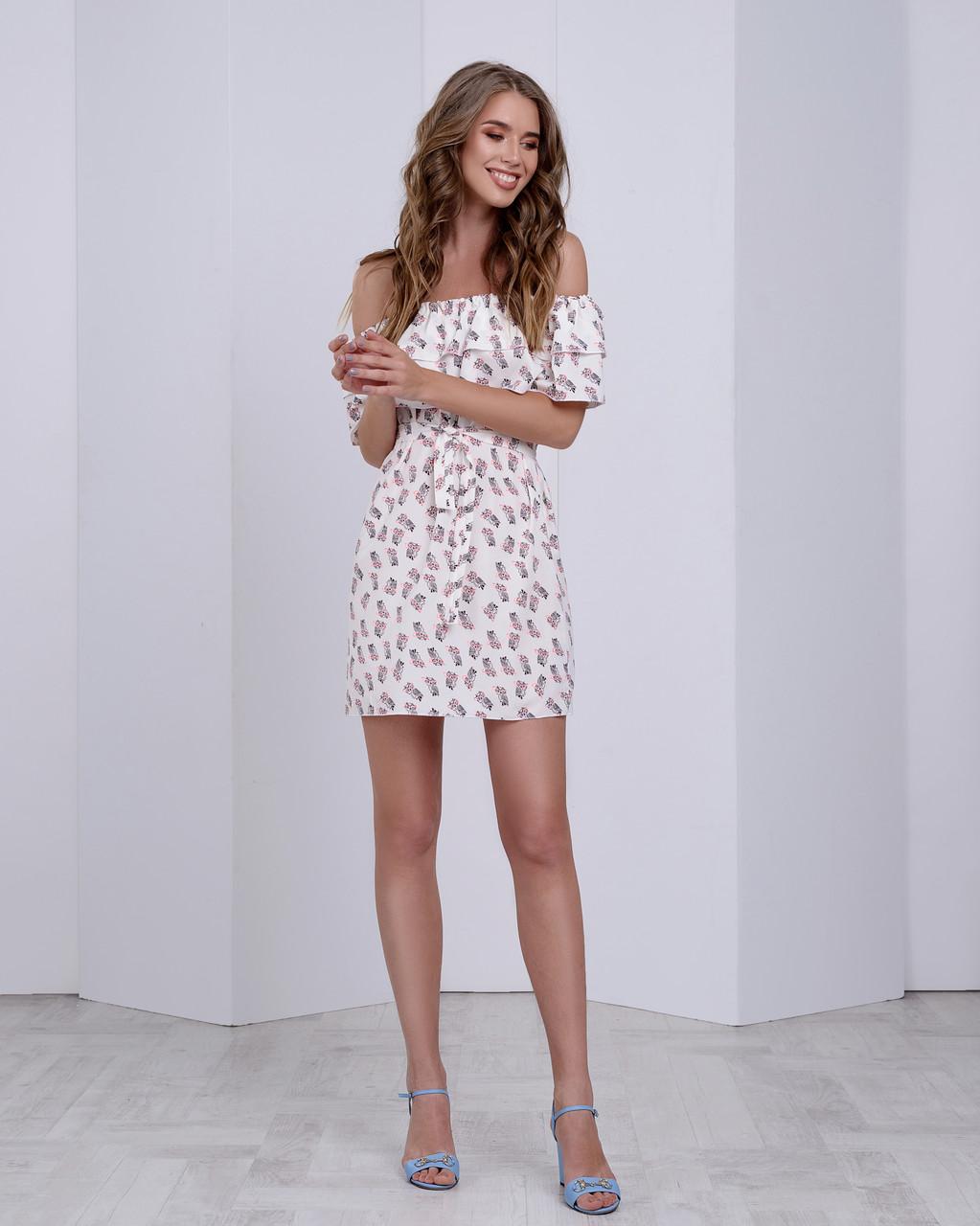 d501d6e87dd Летнее платье с двумя рюшами - Интернет-магазин
