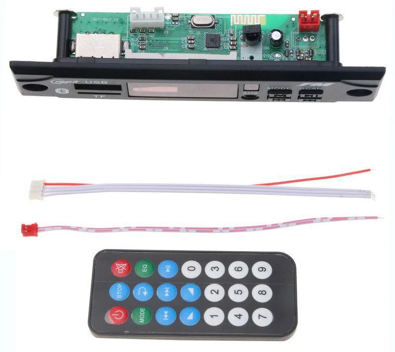 Mp3 модуль з bluetooth, FM радіо, USB, microSD, модель kebidu-M517