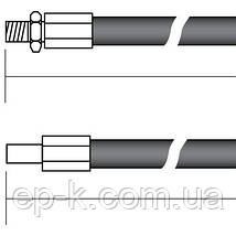 Рукав высокого давления штуцерованный (РВД) Кл.27 М 22*1,5 L=400мм, фото 3