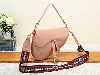 Женская модная сумка копия Диор Dior эко-кожа дорогой Китай розовая