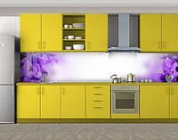 Кухонный фартук Сирень макро, Самоклеящаяся скинали с фотопечатью, Цветы, фиолетовый, фото 1