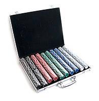 Покерные фишки в аллюминиевом кейсе - 1000 фишек (48х40х7 см)