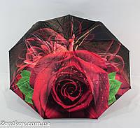 "Женский зонт автомат сатин ""3D rose flower"" от фирмы ""Monsoon""."