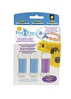 Насадки для электрической роликовой пилки (3шт) Ped Egg 3х10см Синий, Фиолетовый, Белый