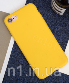 Чехол из тонкого матового TPU для Iphone 8 plus желтый / чехол на айфон / чохол