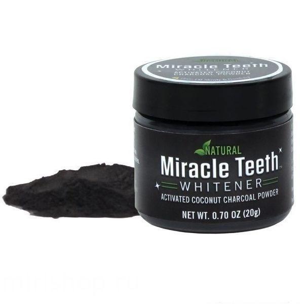 Отбеливатель зубов Miracle Teeth Whitener, черная зубная паста