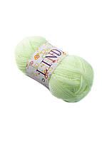 Нитки для вязания 88904 40г Alfredo 0,04кг Светло-салатовый