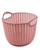 Корзина для хранения вещей Yimei 20,3х19,2х15,6см Розовый
