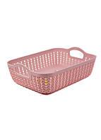 Корзина для хранения вещей Yimei 26,5х20х8,5см Розовый