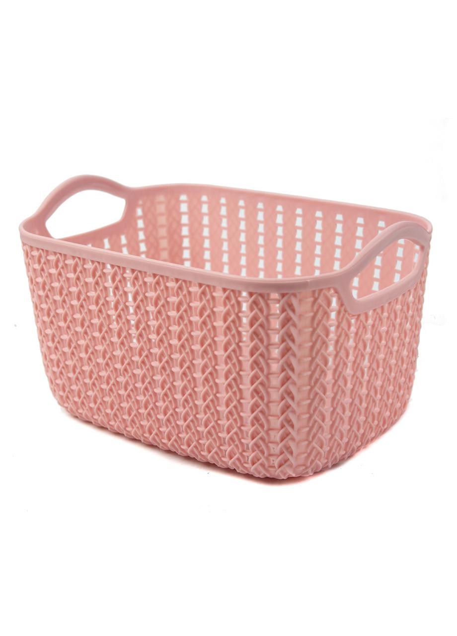 Корзина для хранения вещей Yimei 24х16,5х13,5см Розовый