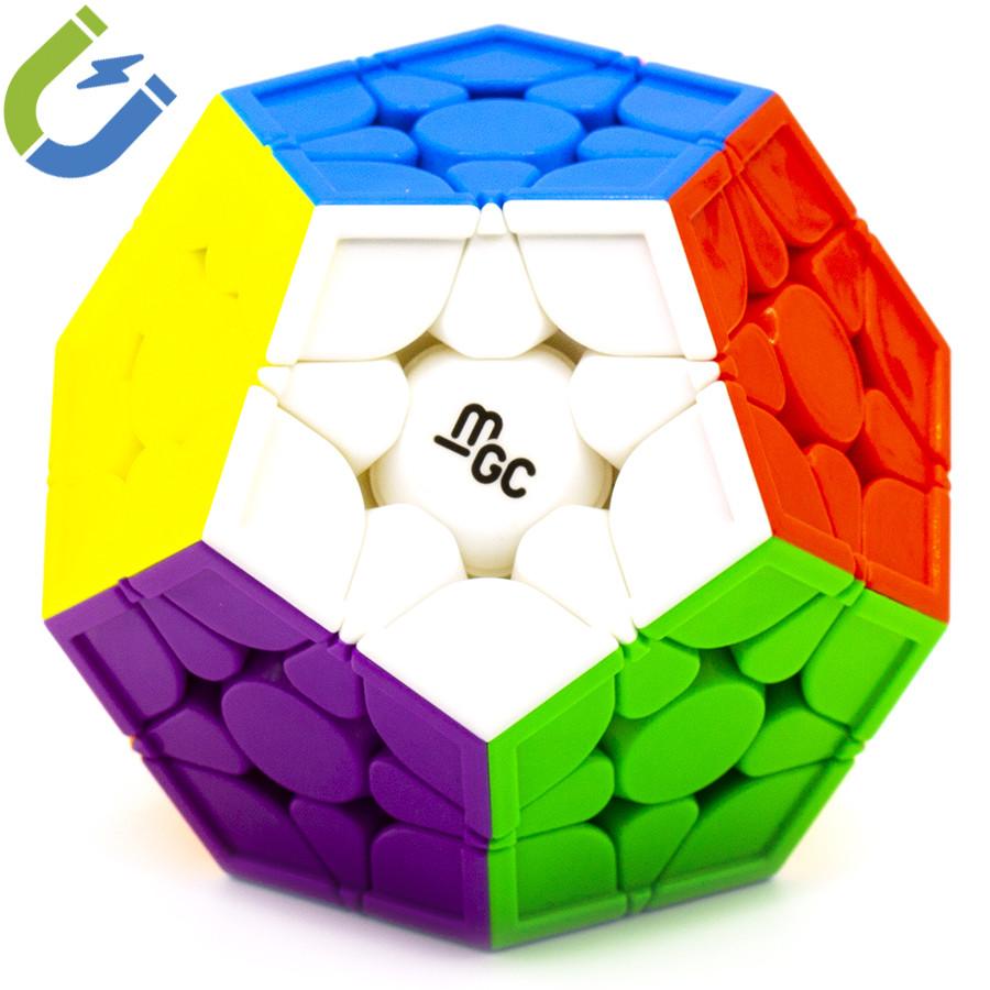 Логічна гра Мегамінкс 3 × 3 YJ MGC Megaminx Magnetic, магнітний, стікери