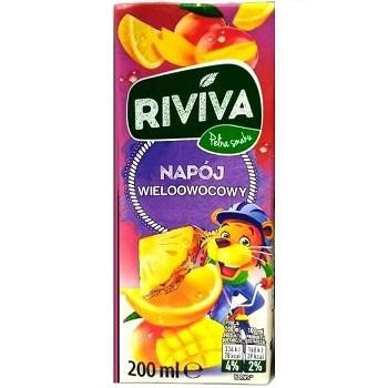 Сок Riviva с мультифруктовым вкусом 200 мл. Польша