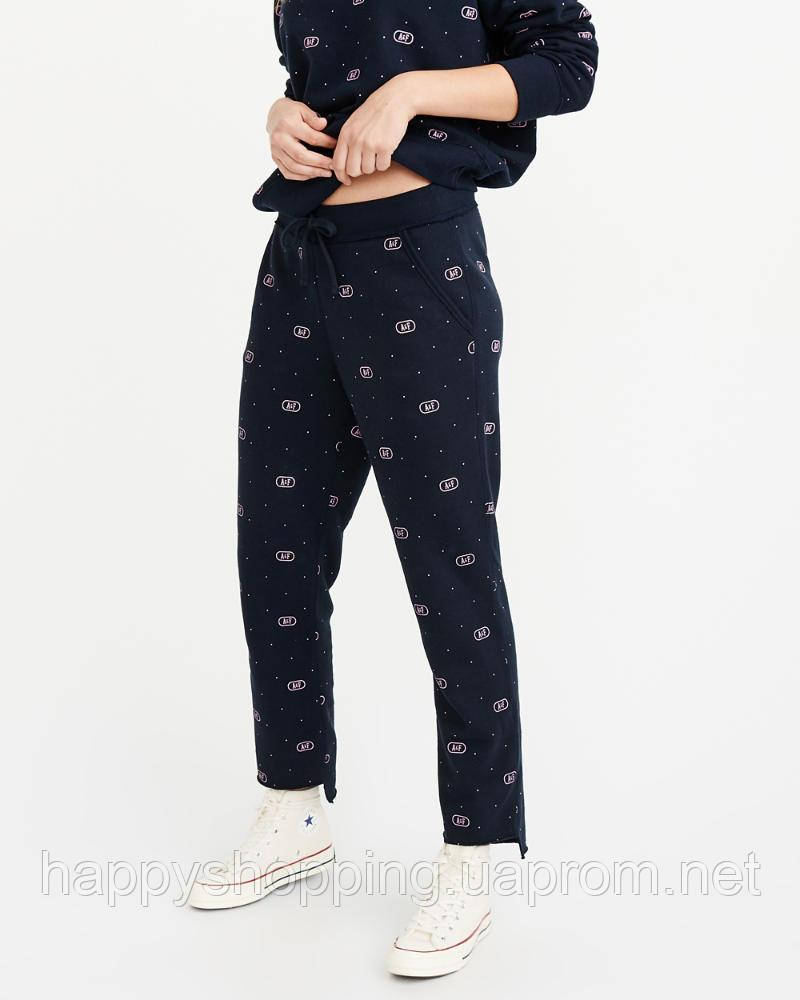 Женские темно-синие спортивные штаны популярного американского бренда Abercrombie & Fitch