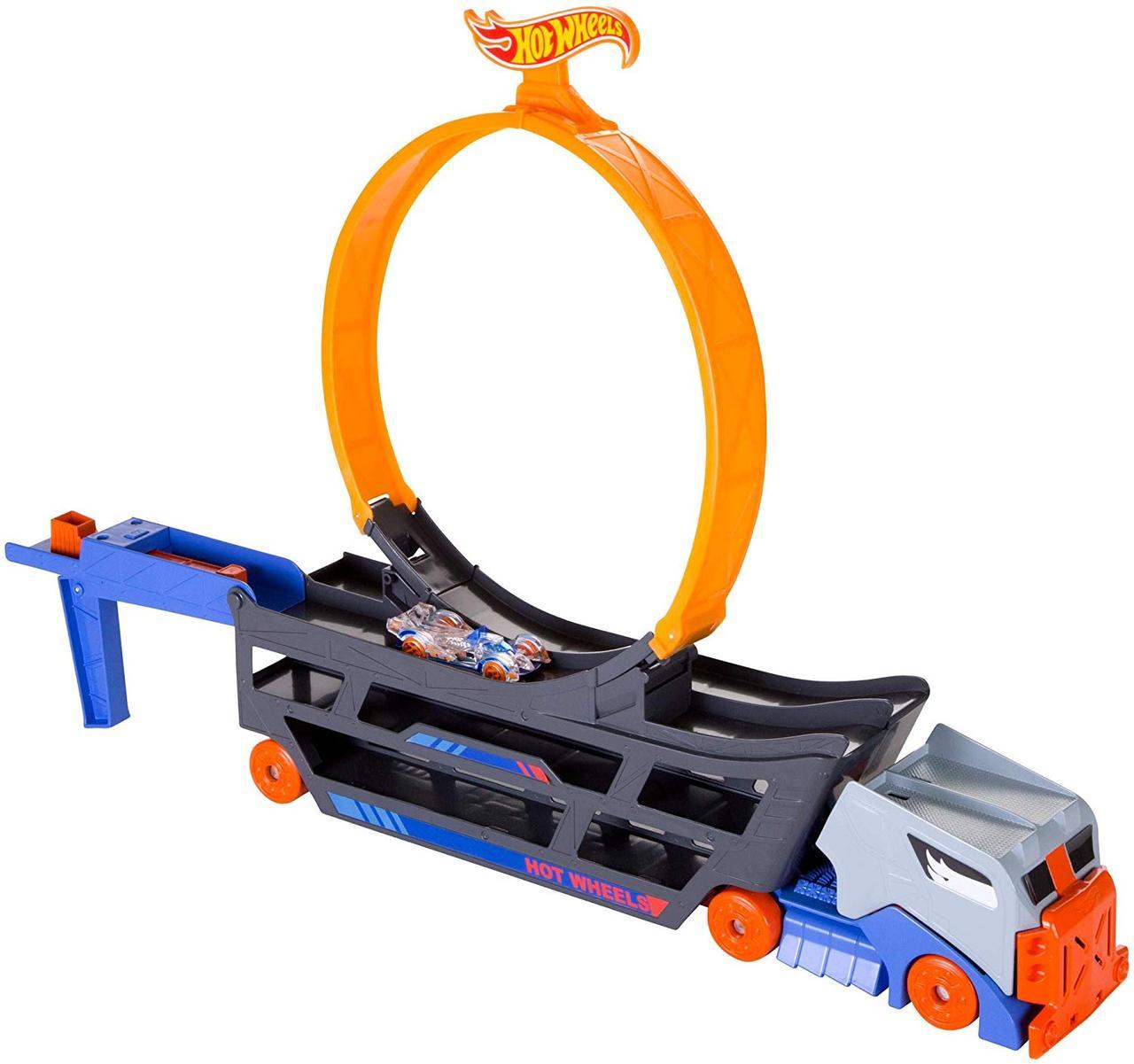Трек Хот Вилс Автовоз с петлей Крутые трюки и гонки Hot Wheels Stunt & Go Track Set