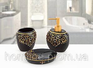 Комплект аксессуаров в ванную Irya Flossy siyah черный (3 предмета)