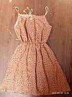 Женское платье сарафан лето. Норма 44-46 Морковное