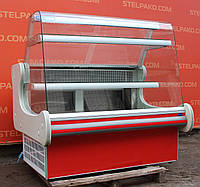 Холодильная витрина кондитерская «JBG» 1.4 м. (Польша), широкая выкладка 63 см, Б/у, фото 1