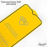 Защитное стекло 2,5D Full Glue для Samsung Galaxy M20 (sm-m205) (black) (клеится всей поверхностью)