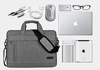 Сумка портфель для ноутбука через плечо
