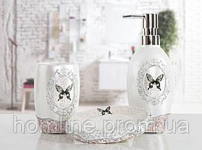 Комплект аксессуаров в ванную Irya Mira beyaz белый (3 предмета)
