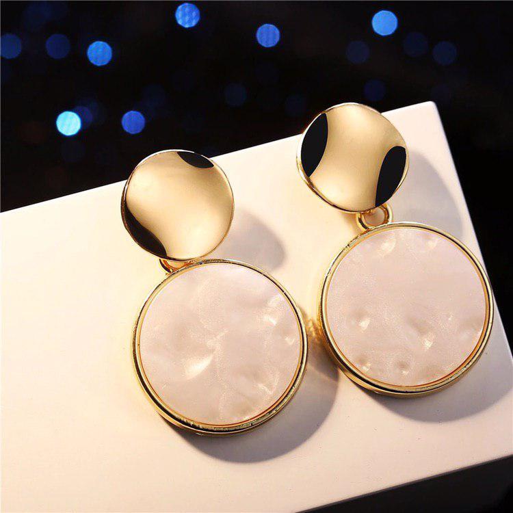 Модные украшения женские винтажные золотые металлические массивные серьги золотой цвет сережки / Распродажа!!!