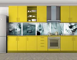 Кухонный фартук Свадебная романтика, Наклейка на кухонный фартук, Люди, серый