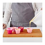 IKEA SOCKERKAKA Формочка для випічки, різні відтінки рожевого, фото 4