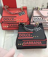Женская модная сумка копия D&G Dolce&Gabanna эко-кожа дорогой Китай выбор цветов