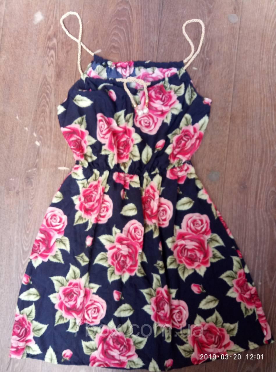 Женское платье сарафан лето. Норма 44-46 Розы