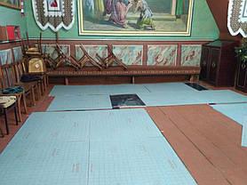 Монтаж теплої підлоги у церкві с.Тулова (Снятинський р-н) 11