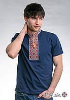 Чоловіча футболка із вишивкою на короткий рукав «Козацька (червона вишивка)»