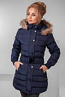 5565937cd8b Женская удлиненная куртка с мехом на капюшоне. Ткань  плащевка. Размер  с