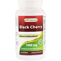 Черная вишня, Black Cherry, экстракт, Best Naturals, от подагры и артрита, 1000 мг, 180 капсул. Сделано в США