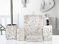 Комплект в ванную Irya Mozaik beyaz белый (5 предметов)