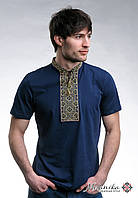 Оригінальна чоловіча вишита футболка «Козацька (зелена вишивка)», фото 1